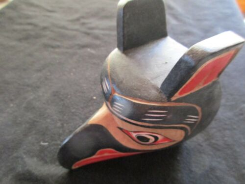 """CLASSIC NORTHWEST COAST DESIGN, """"RAVEN"""" CARVED WOODEN MASK  WY-0221*04626"""