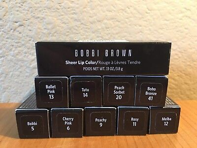 BOBBI BROWN Sheer Lip Color Choose Your Shade NIB Full Size