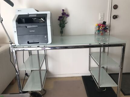 Excellent Condition Glass Study Table