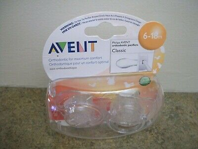 NEW Philips Avent Orthodontic Pacifier Classic 6-18 Months Free Shipping