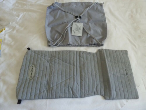 New Maclaren Gray Volo Stroller Seat Liner Cover + Shopping Bag Accessory Kit