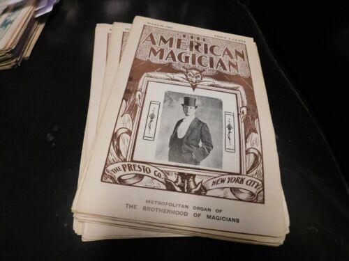 The American Magician Magazine Presto Co. NYC Will Goldston March 1911
