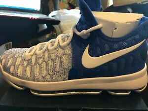 san francisco 5f4f8 2c8ef Nike Zoom KD 9 Home 2 843392-411 Mens Size 10 Blue Durant Basketball Shoes