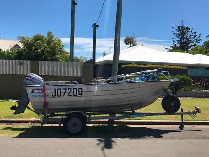 Stessl 4.3m tinny with 40HP Mariner outboard