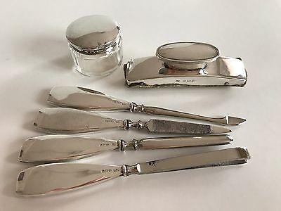 Lovely Vintage Hallmarked Silver Manicure Set William Devenport Birmingham
