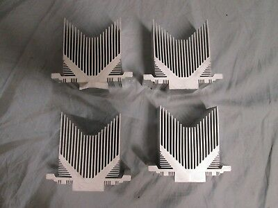 Lot Of 4 Aluminum Heatsink Heat Sink Cooling Radiator 4 12 X 4 X 2