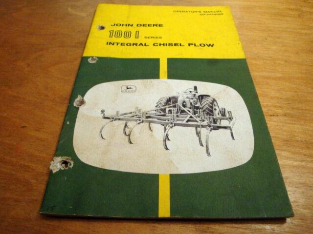 John Deere 100i Integral Chisel Plow Operator&#039
