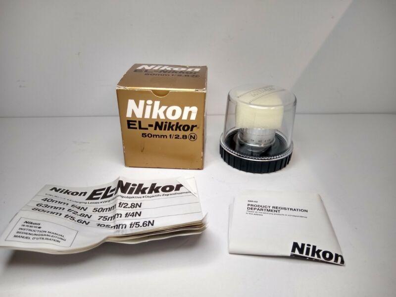 Vintage El Nikkor 50mm F2.8 Box With Bubble Case Perfex 1:4.5 Enlarger Lens