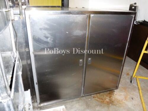 Two (2) Door Stainless Steel Hose Cabinet