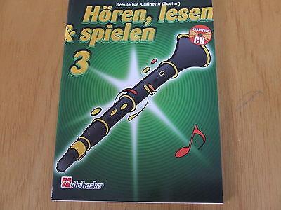 Hören, lesen & spielen Band 3 für Klarinette Boehm (Böhm- System) mit CD
