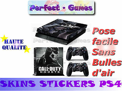 Skin sticker auto-collant vinyl Call of Duty Ghost pour console SONY PS4...