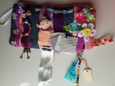 Twiddle Muff HandKnitted Hand Warmer Hospital Gift Dementia Elderly Fidget
