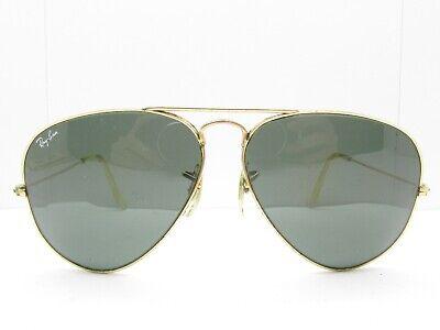 VINTAGE B&L RAY-BAN TEARDROP AVIATOR SUNGLASSES gold eyewear 58-14-135 99098