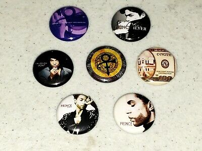 7 Prince Buttons Button 1 inch Pin Pins Mini Album LP Vinyl Replica Hits LOT G