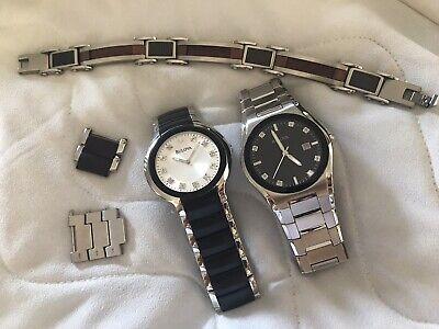 2x bulova mens watches & Stainless Bracelet