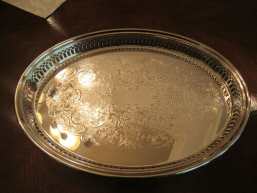 Vintage Reed and Barton / Sheffield Silverplate Oval Serving Tray