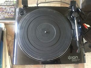 Record player and about 25 records