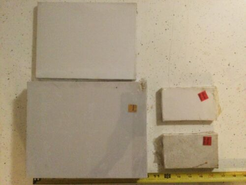 Vintage Art Supplies 6 Blank Canvas Lot Painting Artists Class - Real Wood NOS