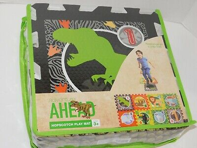 Hopscotch Play Mat Dinosaur Jungle Animals Foam Foam Hopscotch Mat