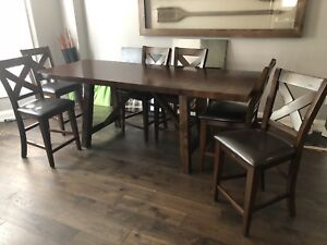 7 piece - Counter height dining table set
