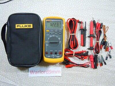 Fluke 87v Trms Multimeter Kit With Leads  Temp Probe Fluke Case - 15721.