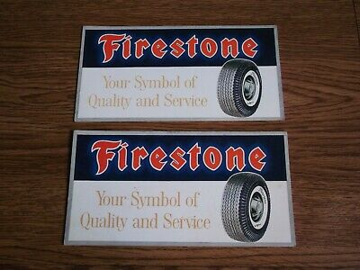 "Rare vintage ""FIRESTONE"" Tyre advertising ink blotters of 70's (Pair)."