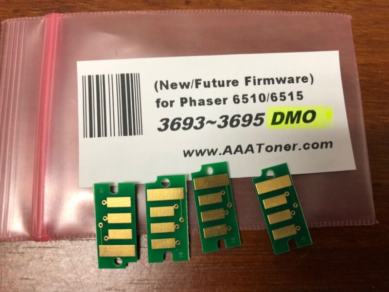 4 (New Firmware) Toner Chip (3693 ~ 3695) for Xerox Phaser 6510, WC 6515 Refill