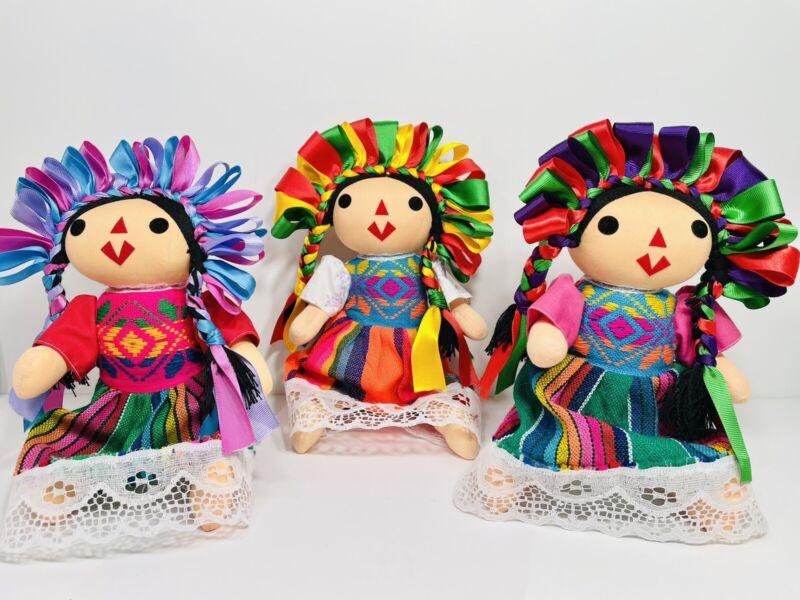 """Maria Lele Handcrafted Mexican Rag Doll 12"""" Cloth Doll Original ~Muñeca~ NEW"""