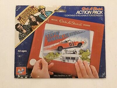 Dukes of Hazzard Etch A Sketch Fun Screens 1981 Ohio Art Action Pack Complete