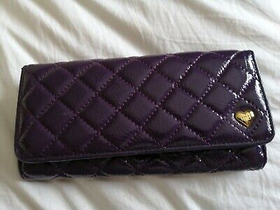 Marc.b Purple Quilted, Animal Print inside Purse NEW