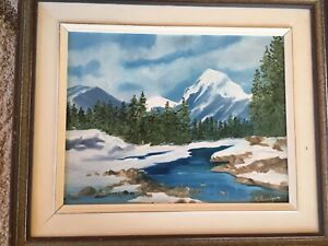 Oil and watercolour paintings reduced