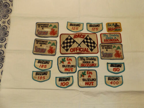 vintage motorcycle sew on patches