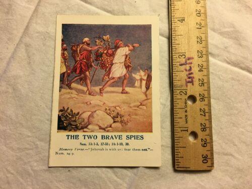Vintage Ad Card 1925 The Two Brave Spies Standard Publishing Co Cincinnati Color