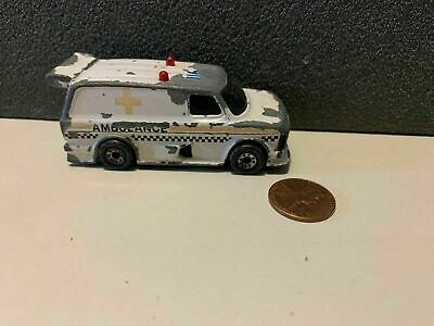 1985 Matchbox White Ford Super Van Ambulance Loose