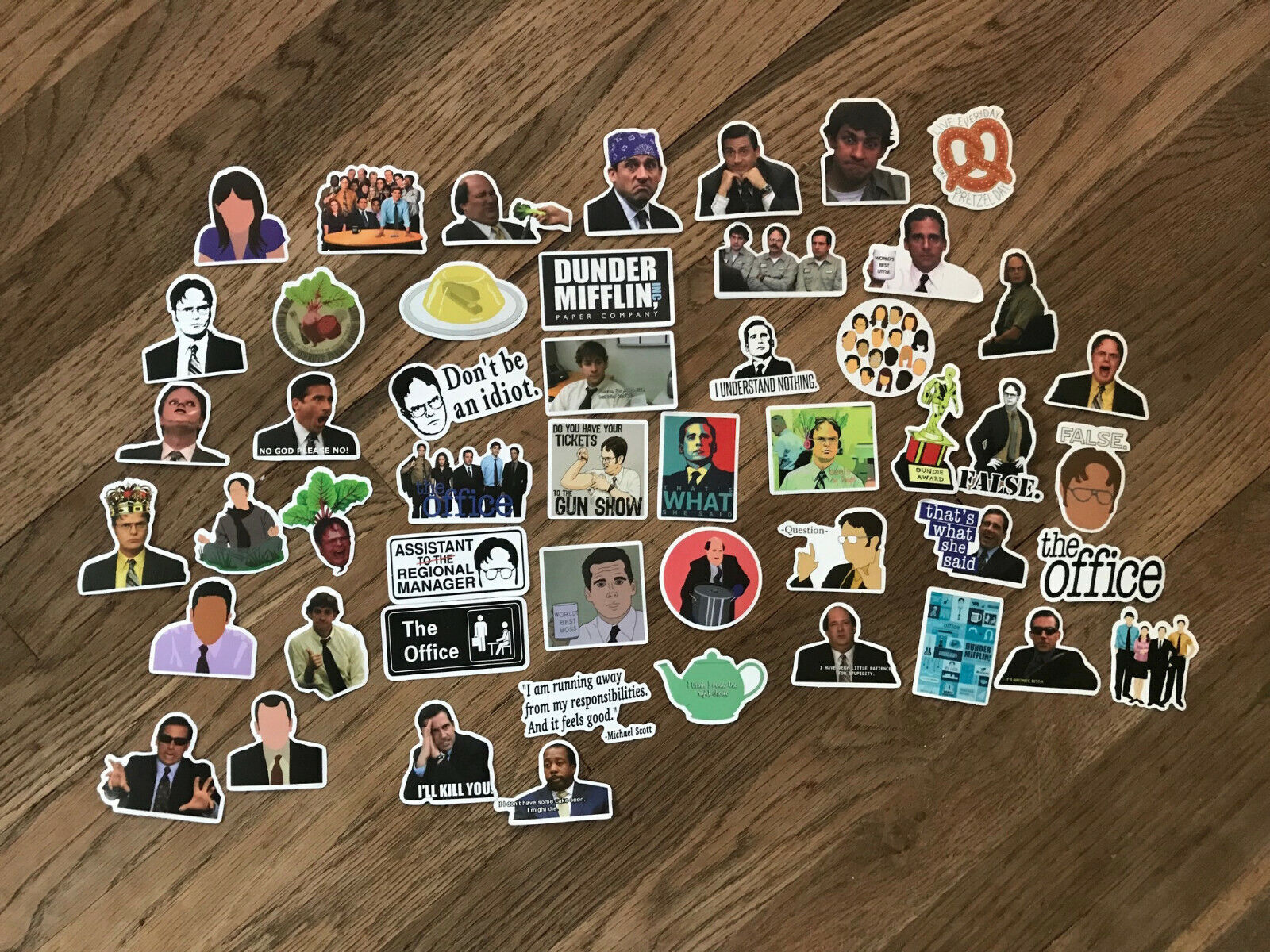 Home Decoration - The Office sticker Pack Lot of 50 Decal Laptop Waterbottle Free Shipping!