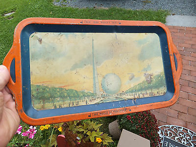 1939 1940 NY New York Worlds Fair Memorabilia Souvenir Tray World of Tomorrow