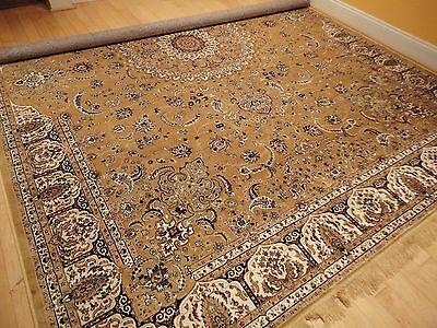 Silk Persian Rugs 9 x 12 Oriental 8x10 Rug Tabriz Rugs 5x8 Beige Silk Runners