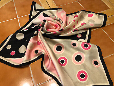 Vintage Scarf Styles -1920s to 1960s Beautiful Vintage 100% Silk Scarf TALBOTS. 26 X 26 In. $9.99 AT vintagedancer.com