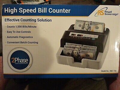 Royal Sovereign High Speed Money Counting Machine Rbc-100-2 New Sealed