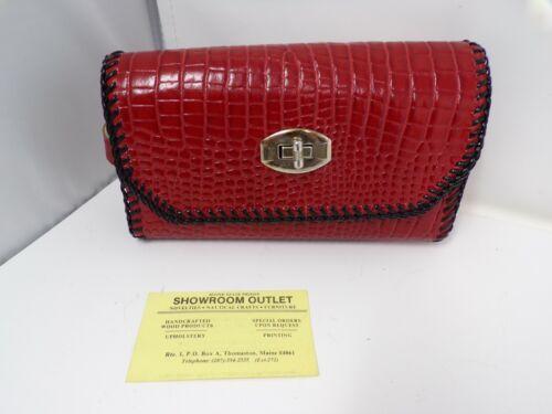 vintage Maine State Prison prisoner made leather wallet purse laced USA  335