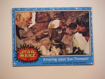 Star Wars Series 1 (Blue) Topps 1977 Trading Card # 66 Amazing Robot C-3PO for sale  Leisenring