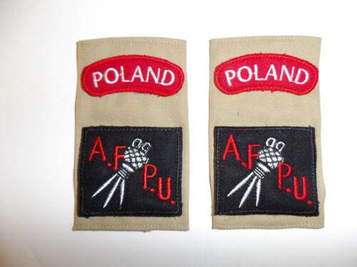 c0398p WW2 Polish Military AFPU Armed Forces Photographic Unit shoulder tabs R9E