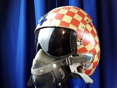 Checkers Squadron US Navy APH-5 Pilot Flight Helmet with MS 22001 oxygen mask