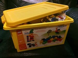 Tote of LEGO. JOHN DEERE / CAT