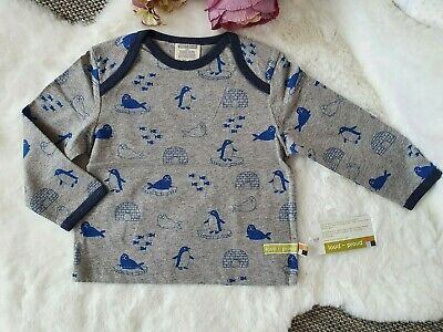 Loud+Proud Longsleeve T-Shirt Pinguine Baby Jungen Grau Gr:74/80