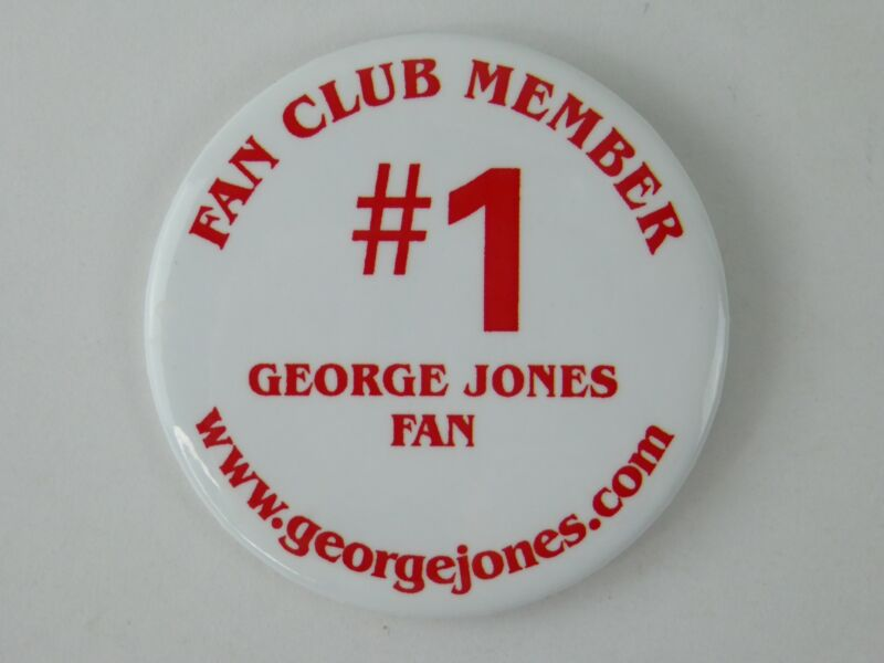 George Jones #1 Fan Club Member Pin Country Music Artist