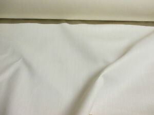 10 metres Ivory Polycotton Twill Weave 54