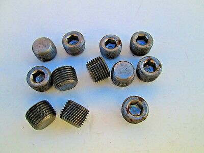For Pneumatic Air Oil 18 Socket Head Pipe Plugs Male Thread Internal Hex Head