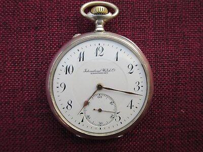 IWC Lepine Taschenuhr 800er Silber um 1910