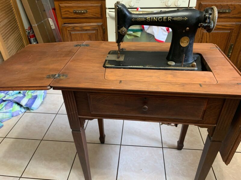 Singer Sewing Machine with Singer Sewing Table